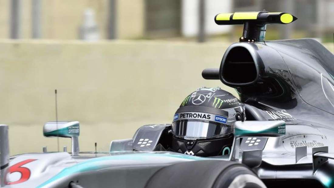 Für das Training hatte Nico Rosberg ein besseres Setup als Lewis Hamilton und fuhr die schnellste Runde. Foto: Sebastiao Moreira