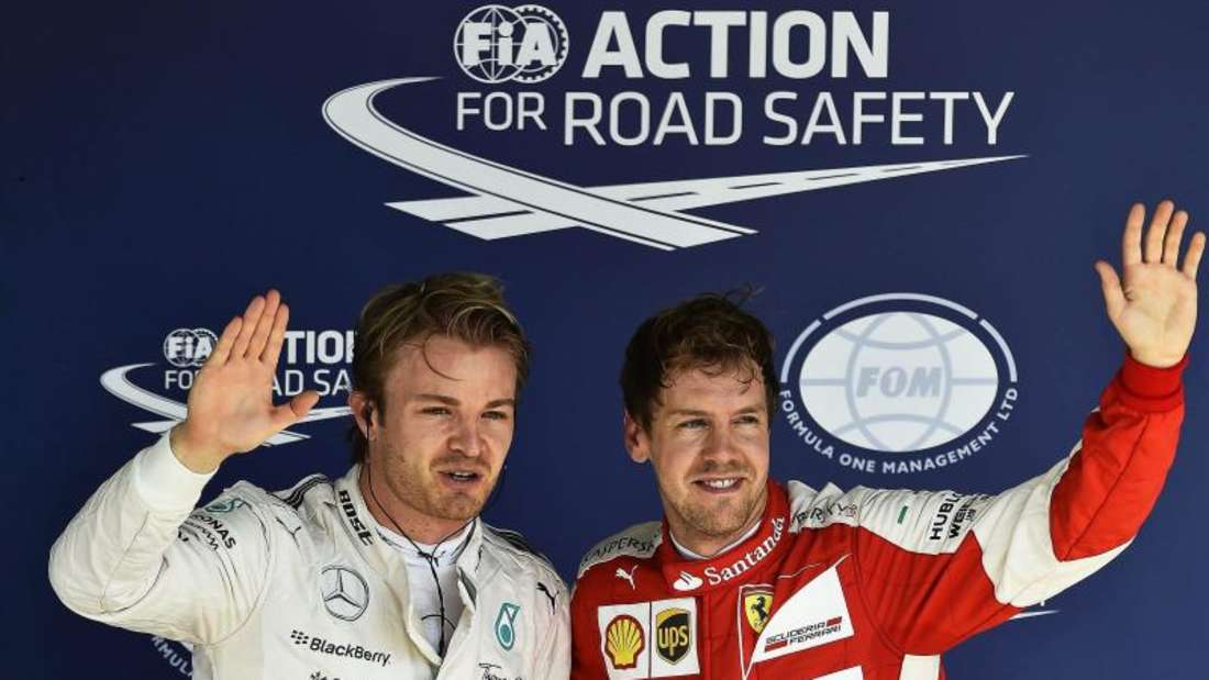 Nico Rosberg und Sebastian Vettel werden sich in Brasilien keine Freundschaftsgeschenke machen. Foto: Sebastiao Moreira