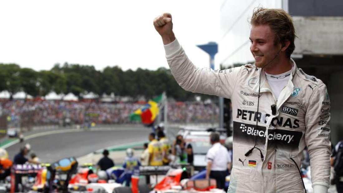Nico Rosberg gewann das Rennen in São Paulo. Foto: Fernando Bizerra Jr