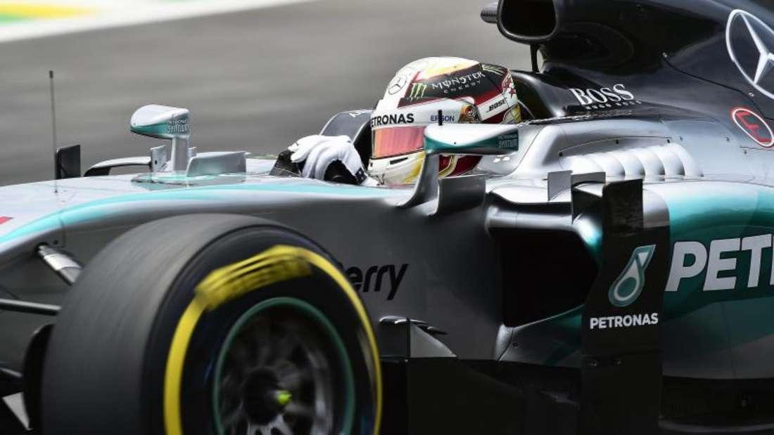 Lewis Hamilton fuhr im Mercedes die schnellste Runde. Foto: Sebastiao Moreira