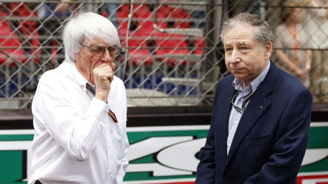 Formel-1-Boss Bernie Ecclestone (l) und FIA-Chef Jean Todt haben ein angespanntes Verhältnis. Foto: Valdrin Xhemaj
