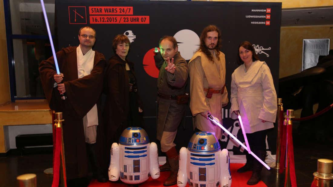 24/7 Premiere von Star Wars: Episode VII - Das Erwachen der Macht im CinemaxX, Mannheim.