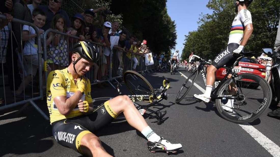 Radprofi Tony Martin musste bei der Tour de France nach einem Schlüsselbeinbruch als Gesamtführender aufgeben. Foto:Eric Feferberg