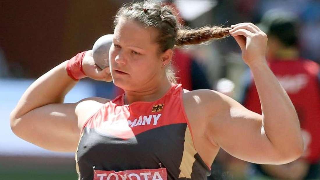 Kugelstoßerin Christina Schwanitz wurde in Peking erstmals Weltmeisterin. Foto: Christian Charisius