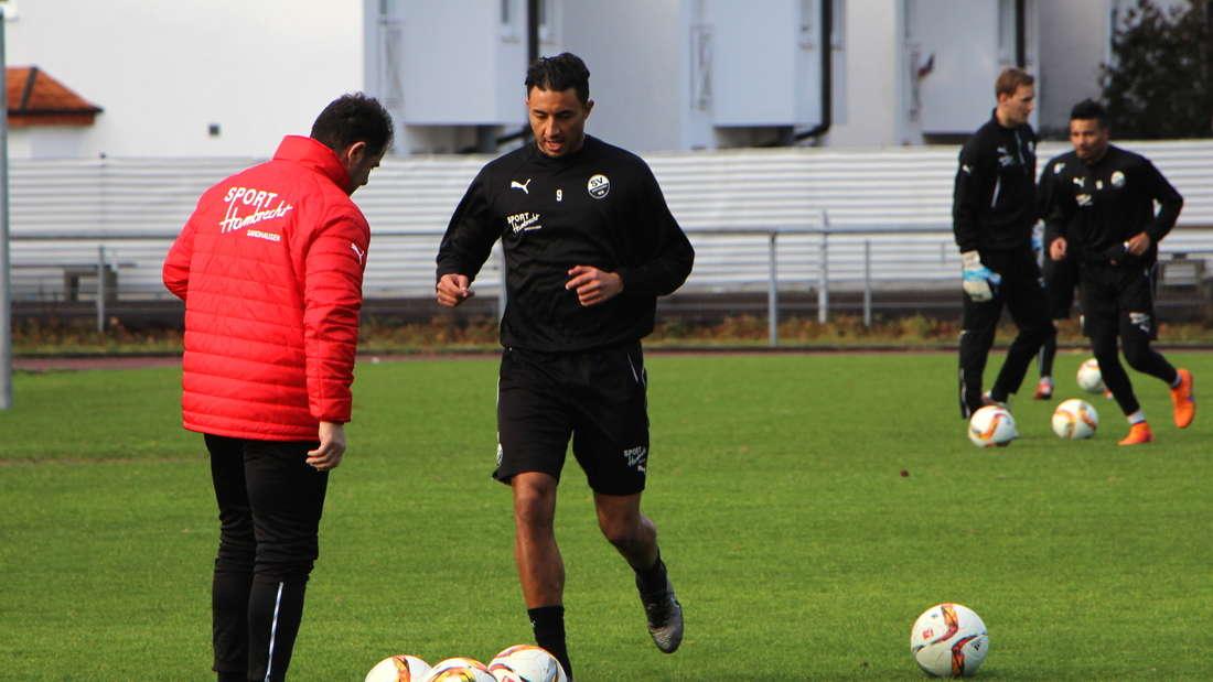 Endlich wieder Fußball! Aziz Bouhaddouz und der SV Sandhausen stecken mitten in der Vorbereitung.