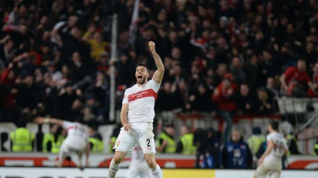 Der VfB Stuttgart schlägt den Hamburger SV mit 2:1. Foto: Deniz Calagan