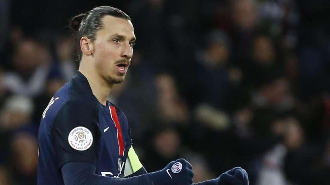 Zlatan Ibrahimovic führte Paris Saint Germain mit zwei Treffern zum Sieg. Foto: Ian Langsdon