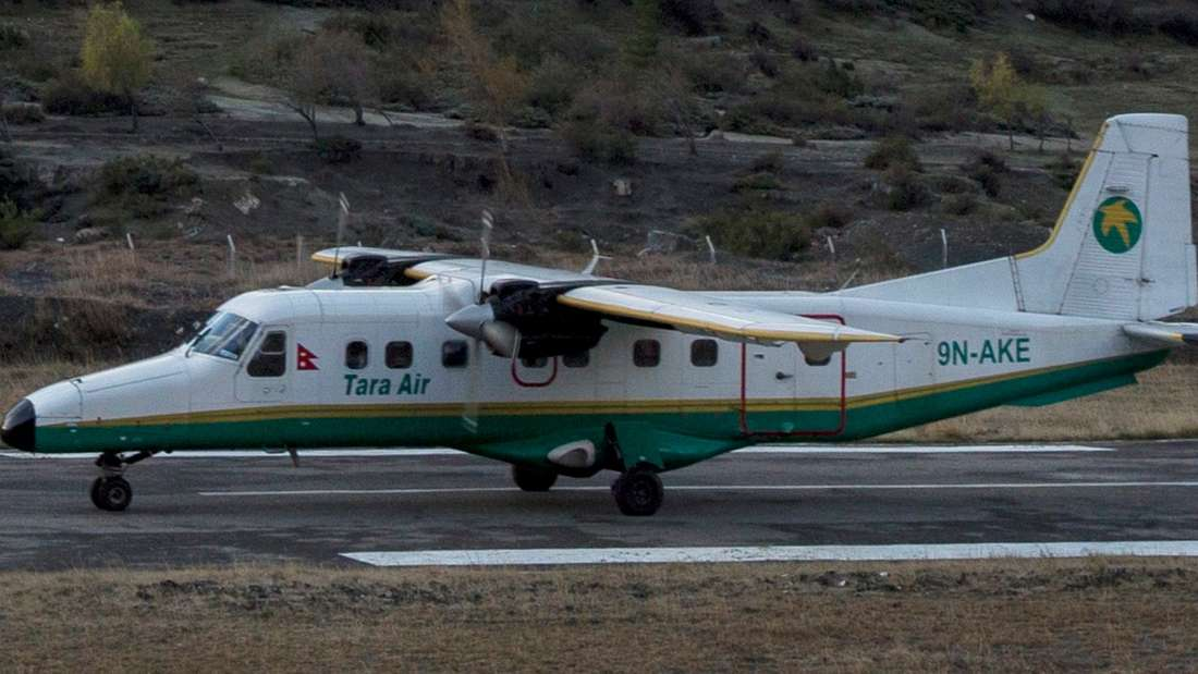 Eine Maschine wie diese ist in Nepal verschwunden.