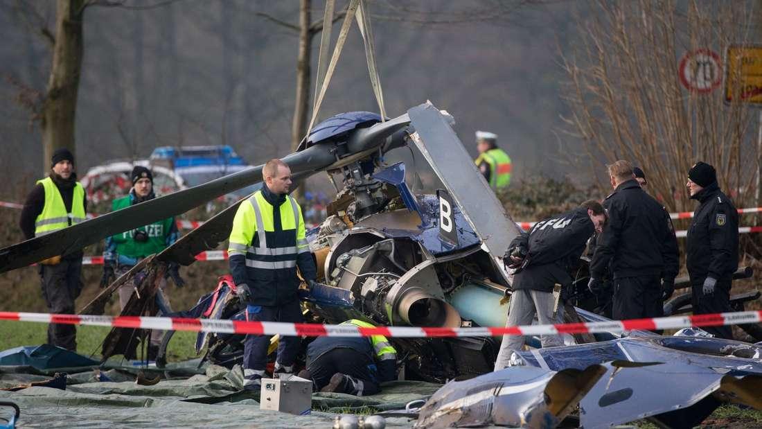 Hubschrauberabsturz in Schleswig-Holstein