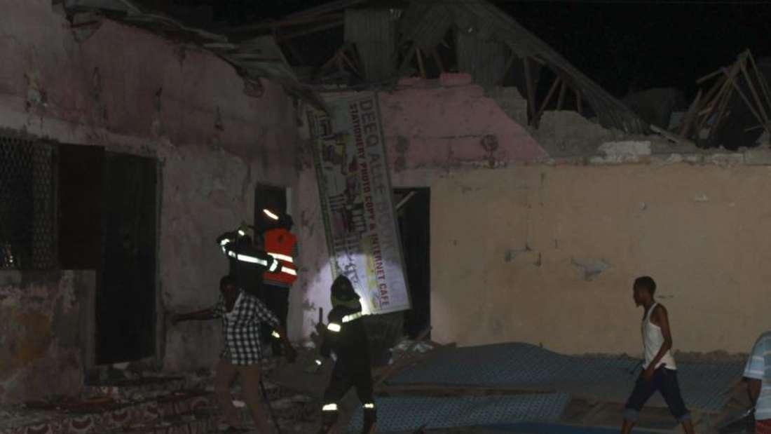 Beim Anschlag auf Hotel in Mogadischu kamen am Freitag 22 Menschen ums Leben. Foto:Said Yusuf Warsame