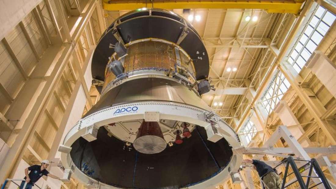 Mit Erfolg sind erstmals europäische Solarmodule für das neue Orion-Raumschiff der Nasa getestet worden. Foto: Christopher J. Lynch/NASA
