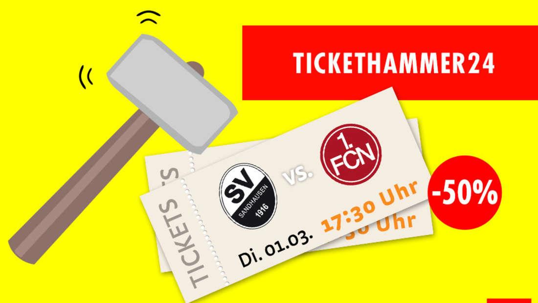 50 Prozent günstiger: Beim Tickethammer24 konnten HEADLINE24-Leser Karten für ein Heimspiel des SV Sandhausen kaufen.