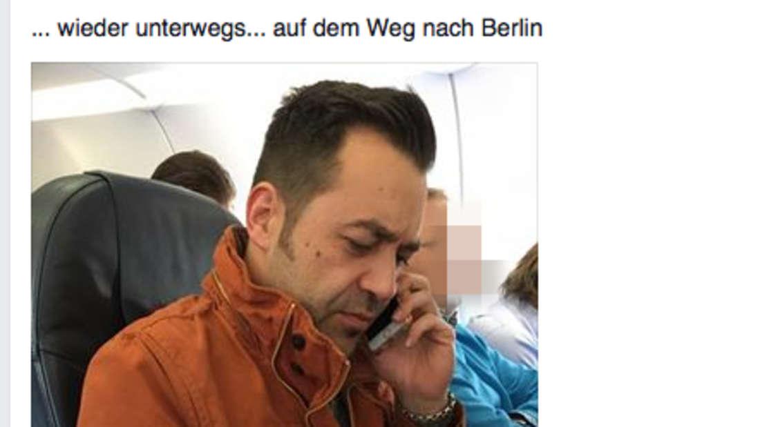 Al-Deen rund zwei Stunden nach dem Selfie im Flugzeug.