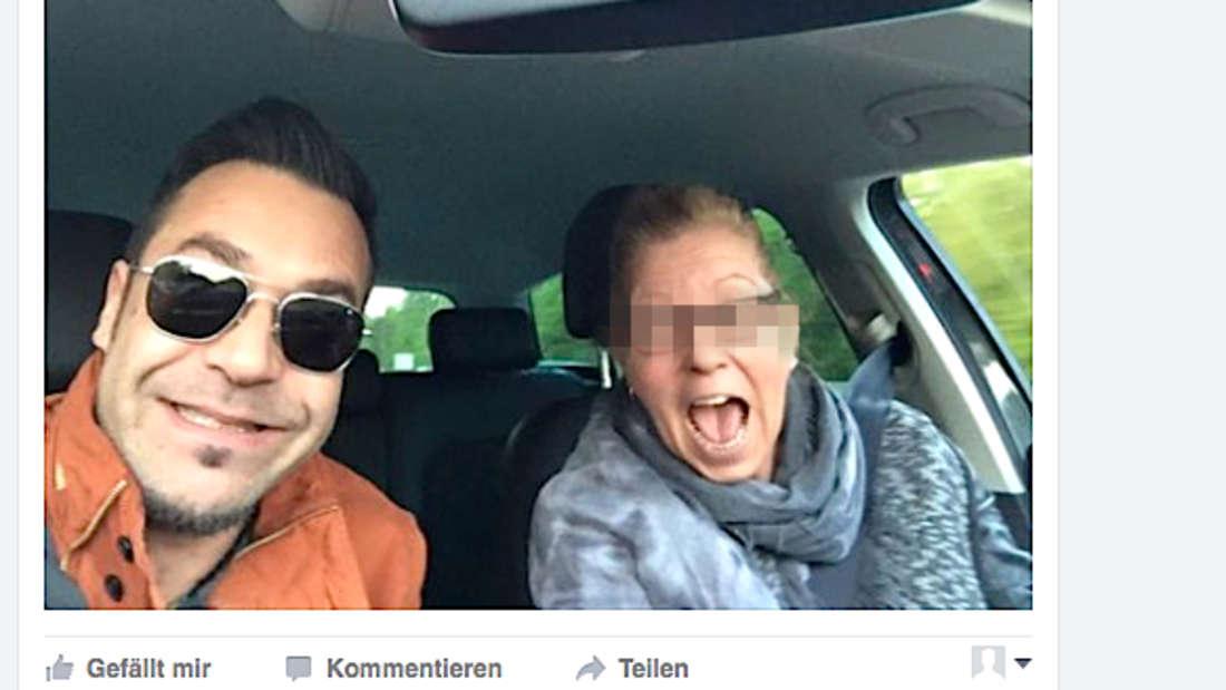Das umstrittene Selfie von Pop-Star Laith Al-Deen im Auto.