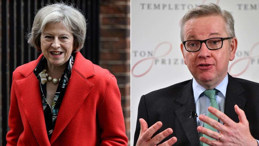 Theresa May undMichael Gove.