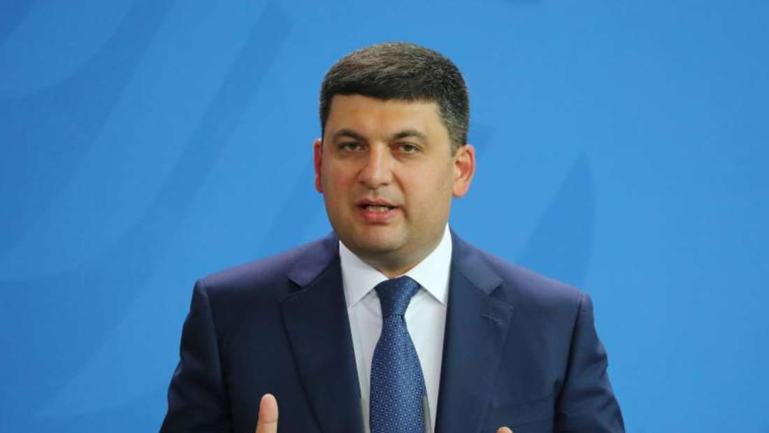 Ministerpräsident Groisman weiß, dass die Ukraine als wahrscheinlich korruptester Staat Europas zurzeit kaum Chancen auf einen Beitritt hat. Foto: Kay Nietfeld