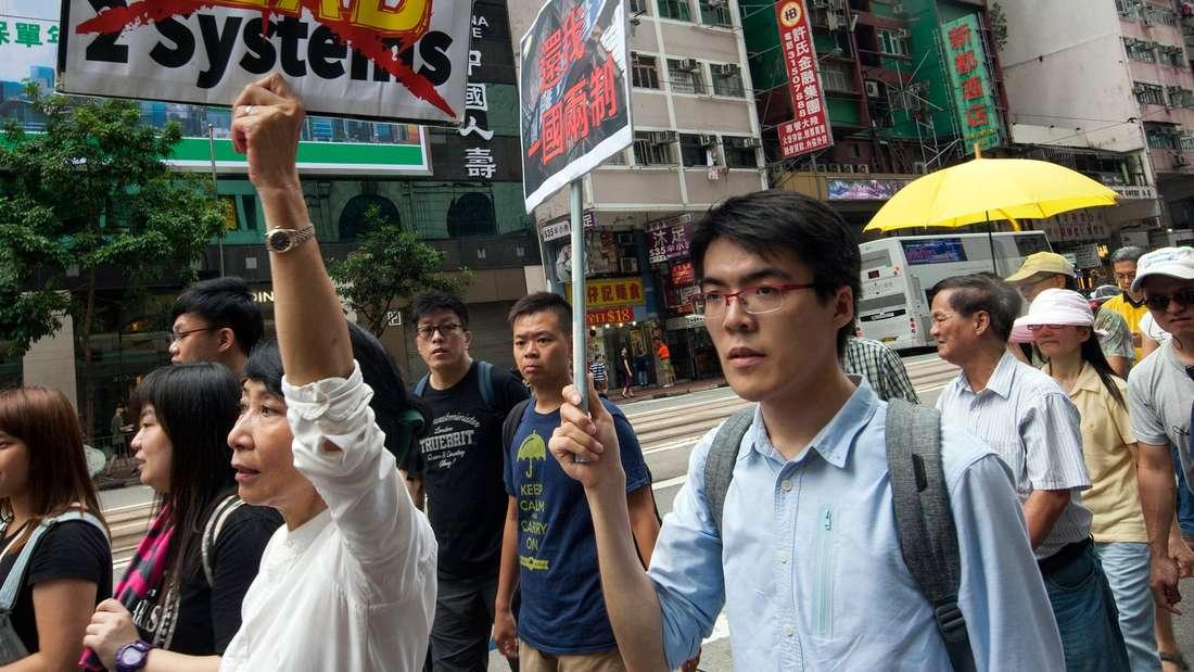 Bereits im Juni protestierten die Menschen in Hongkong.