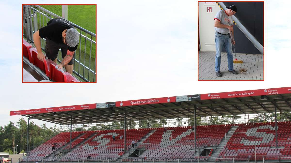sv sandhausen fans bringen hardtwaldstadion auf vordermann sv sandhausen. Black Bedroom Furniture Sets. Home Design Ideas