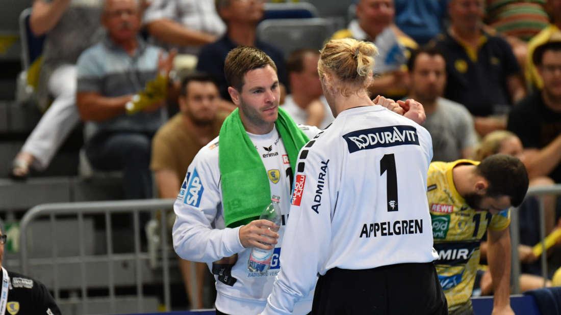 Löwen-Keeper Andreas Palicka (li.) zeigt in Coburg eine ordentliche Leistung (Archivfoto).