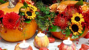 Herbst Dekoration Basteln.Garten Natur Aus Der Natur Einfache Deko Für Den Herbst