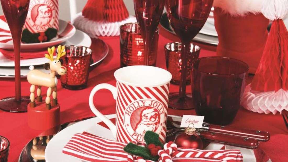 Viel Rot ist bei so manchen Unternehmen für die Weihnachtsdekoration angesagt, so auch bei Butlers. Foto:Butlers