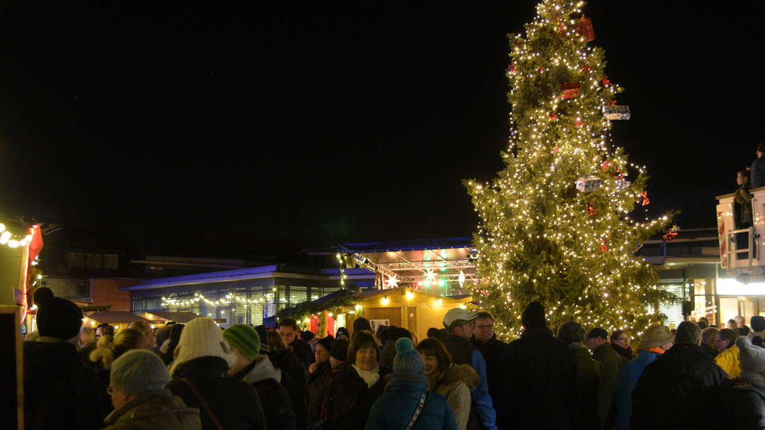 Das Weihnachtsdorf in Eppelheim am zweiten Adventswochenende