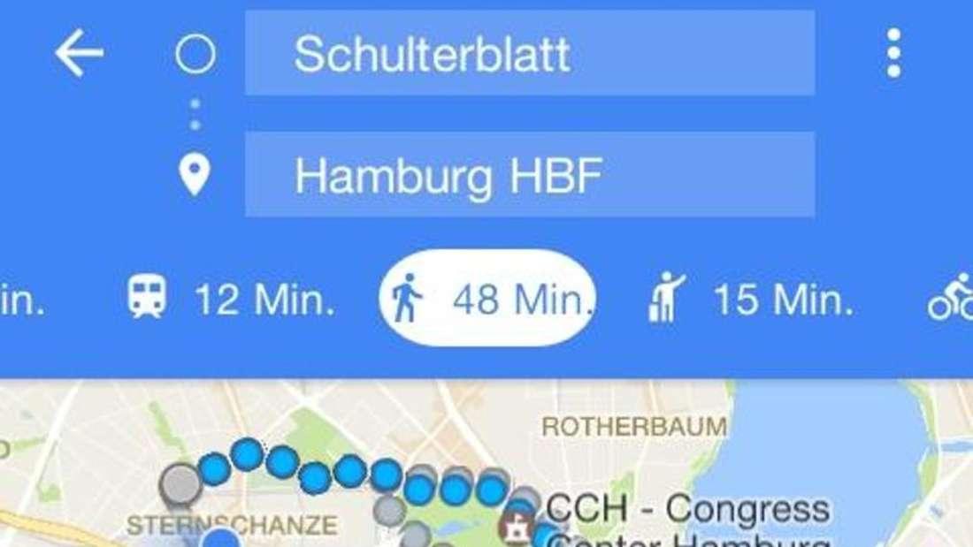 Eine Navigationshilfe im Auto ist für viele Fahrer unverzichtbar. Die kostenlose App Google Maps kann eine Option sein. Screenshot:Google Foto: Google