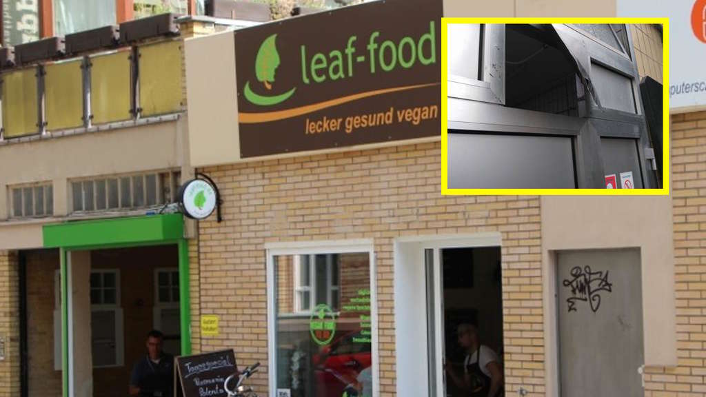 mannheim innenstadt einbruch in veganes restaurant leaf food mannheim. Black Bedroom Furniture Sets. Home Design Ideas