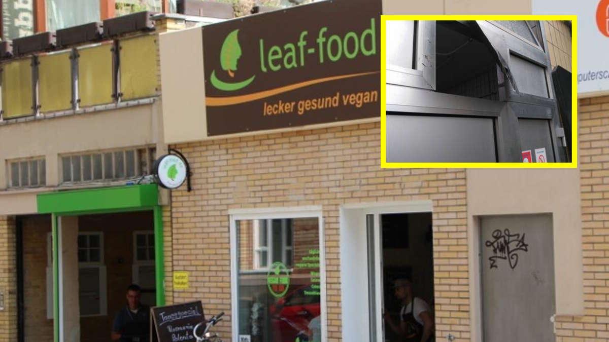 mannheim innenstadt einbruch in veganes restaurant leaf food mannheim. Black Bedroom Furniture Sets. Home Design Ideas