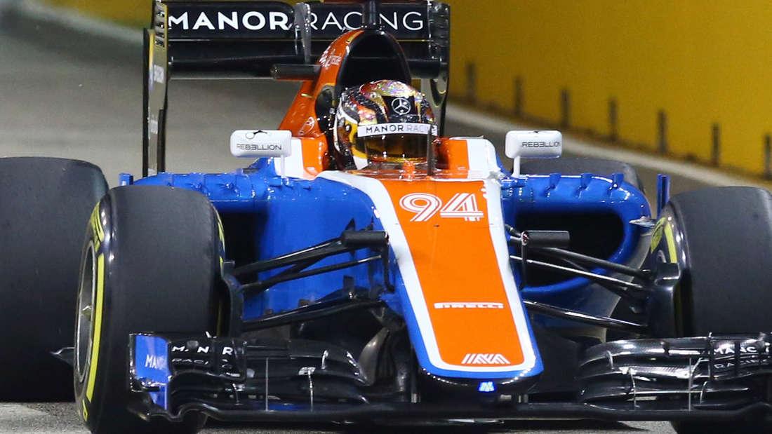 Ein Wagen des britischen Formel-1-Teams Manor. Der Rennstahl ist wohl pleite.