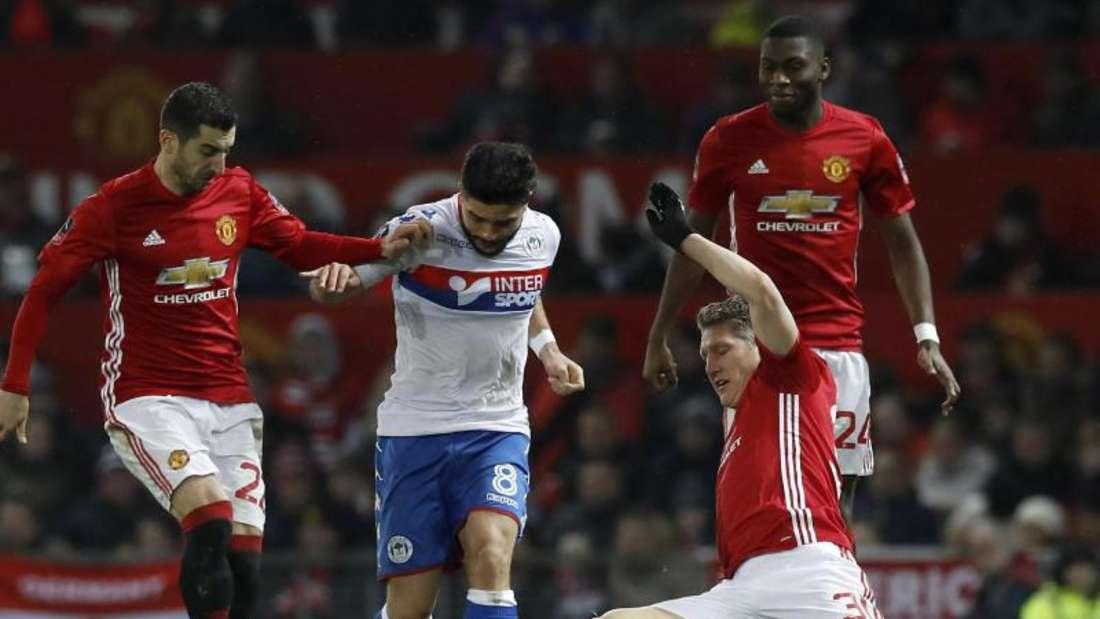 Bastian Schweinsteiger überzeugte bei seinem Startelf-Comeback für Manchester United. Foto: Martin Rickett