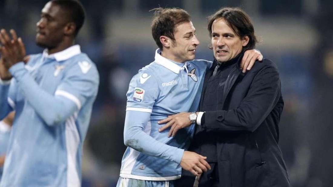 Lazio Rom ist nach dem Sieg über Inter Mailand ins Pokal-Halbfinale eingezogen. Foto: Riccardo Antimiani