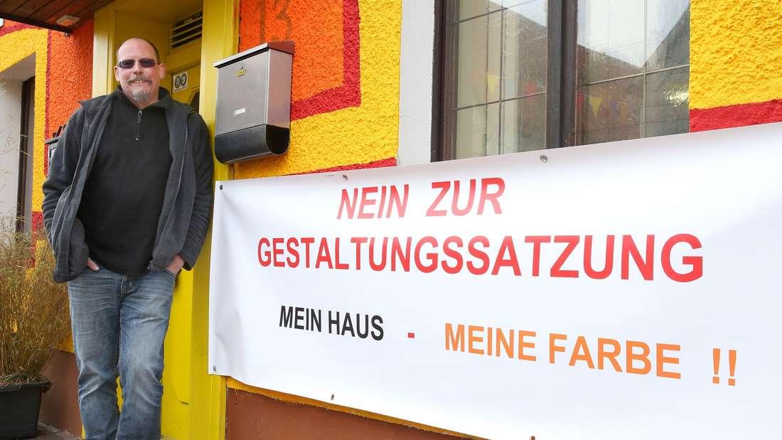 Streit um buntes Haus in Hayingen
