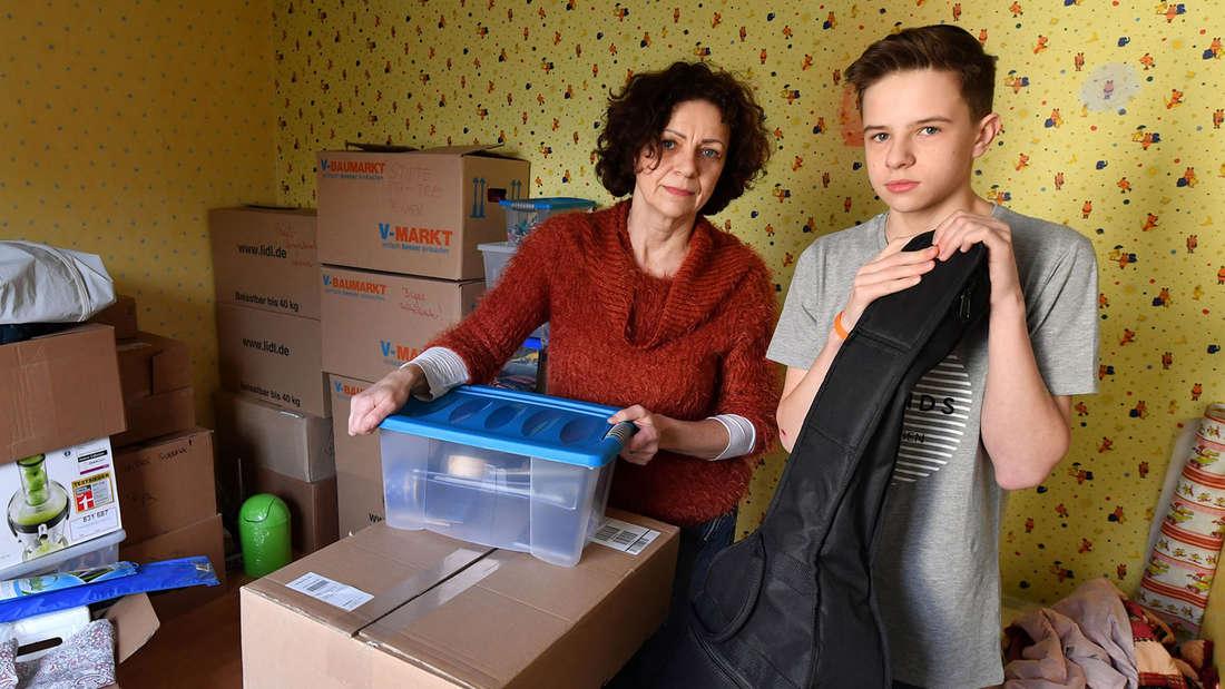 Die Kisten sind bereits gepackt, die Alleinerziehende könnte jederzeit ausziehen – doch die Krankenschwester findet keine andere Wohnung.