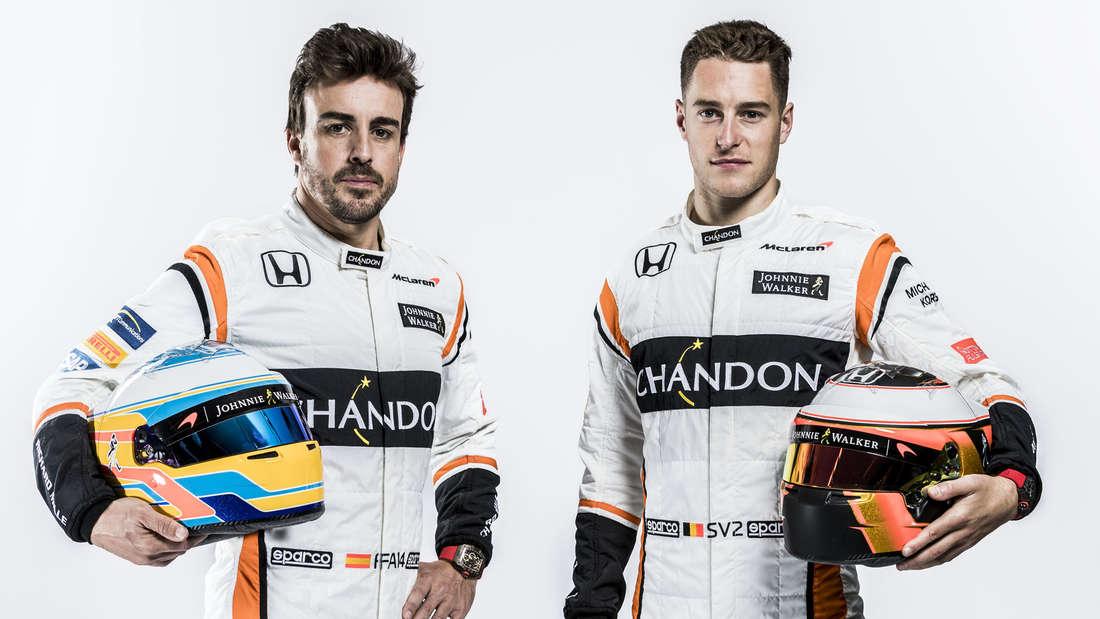 Die Piloten könnten unterschiedlicher kaum sein: Fernando Alonso hat in der höchsten Rennklasse schon so ziemlich alles erlebt, davon will auch der junge Belgier Stoffel Vandoorne profitieren.