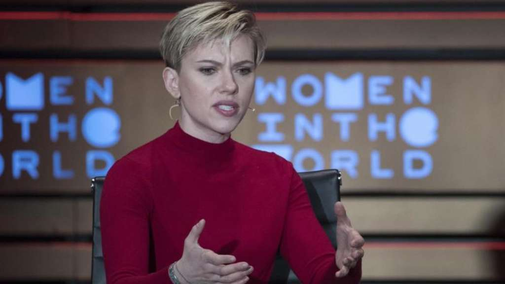 "Scarlett Johansson bei der Konferenz ""Women in the World"" in New York. Foto: Mary Altaffer"