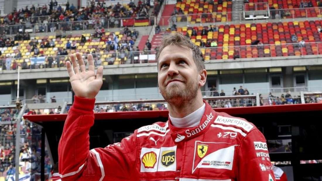 Ferrari-Pilot Sebastian Vettel gehört in Shanghai zu den Favoriten. Foto: Andy Wong