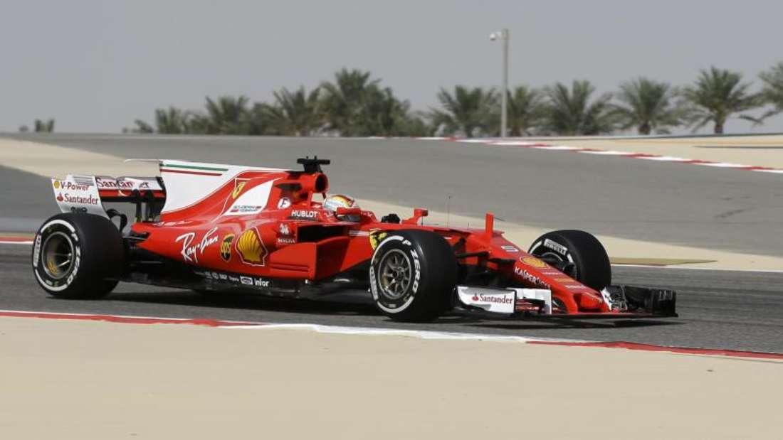 Sebastian Vettel fuhr im ersten Training die Bestzeit. Foto: Luca Bruno