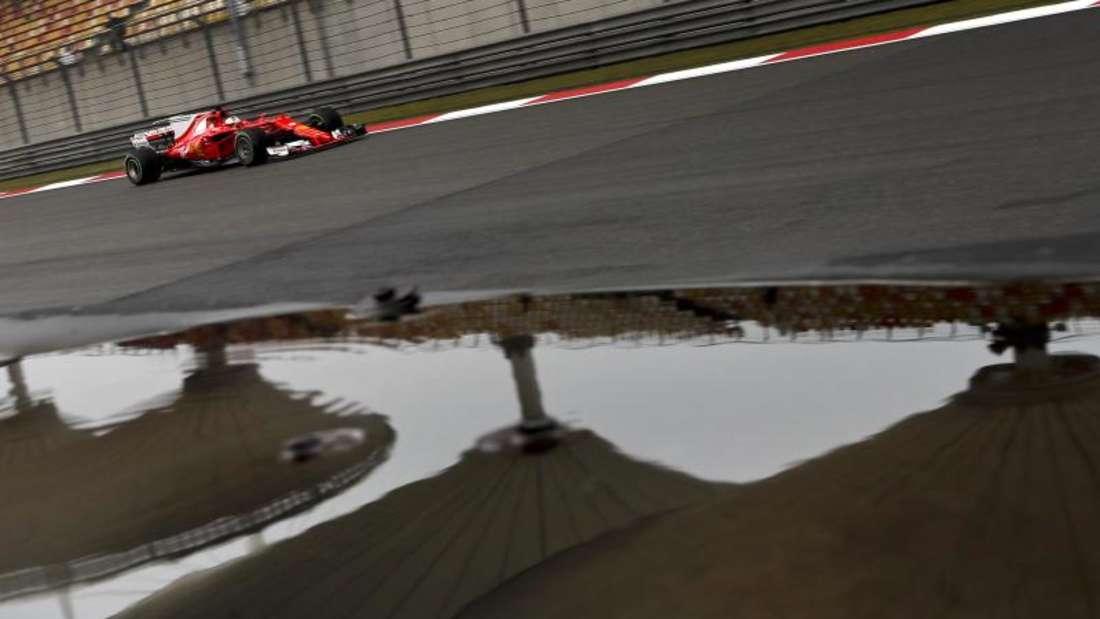 Sebastian Vettel wurde beim Rennen in China Zweiter. Foto:Andy Wong