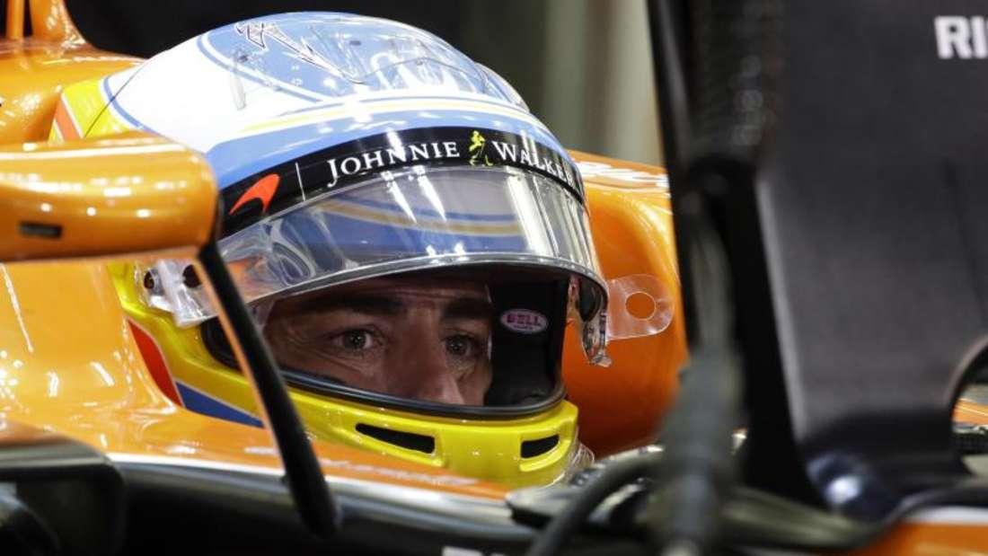 Fernando Alonso kritisierte sein Team McLaren Honda. Foto: Luca Bruno