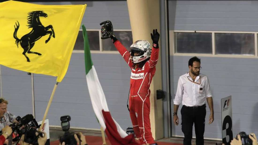 Sebastian Vettel holte sich den Sieg beim Großen Preis von Bahrain. Foto: Hassan Ammar