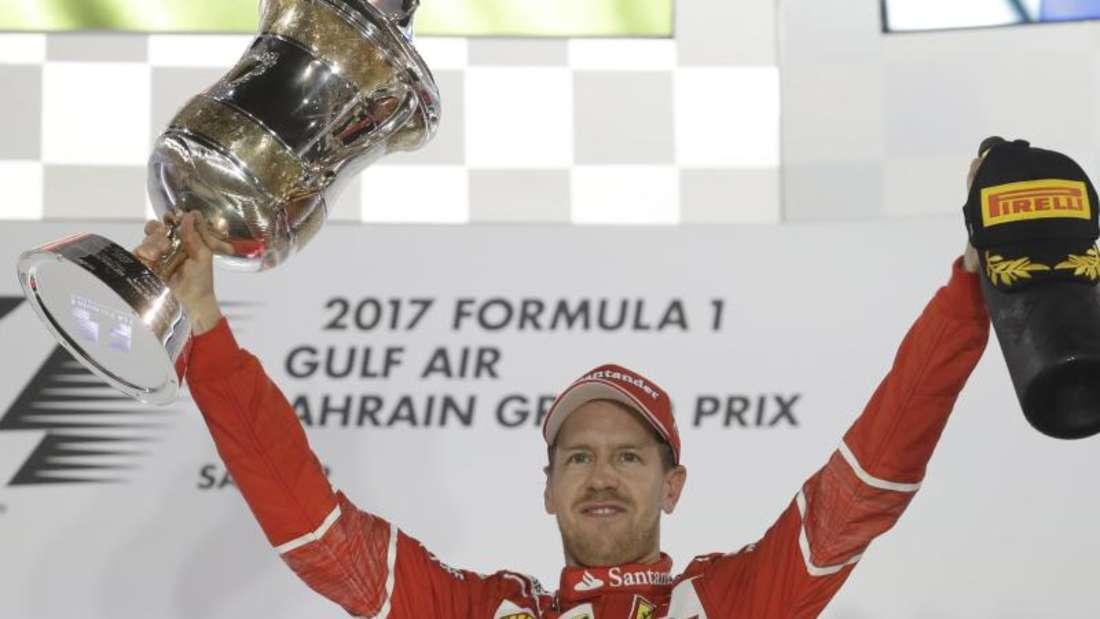 Sebastian Vettel konnte nach einem Sieg in Bahrain auch schon zwei Mal Weltmeister werden. Foto:Luca Bruno