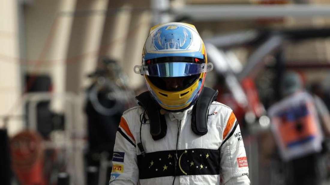 Fernando Alonso musste das Rennen in Bahrain vorzeitig aufgeben. Grund: Technische Probleme.