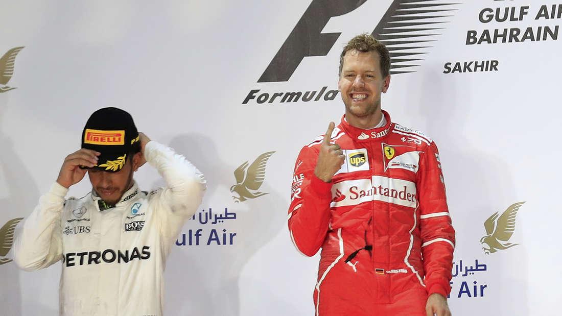 Lewis Hamilton musste diese Saison zweimal mit ansehen, wie Vettel ganz oben auf dem Podest stand.