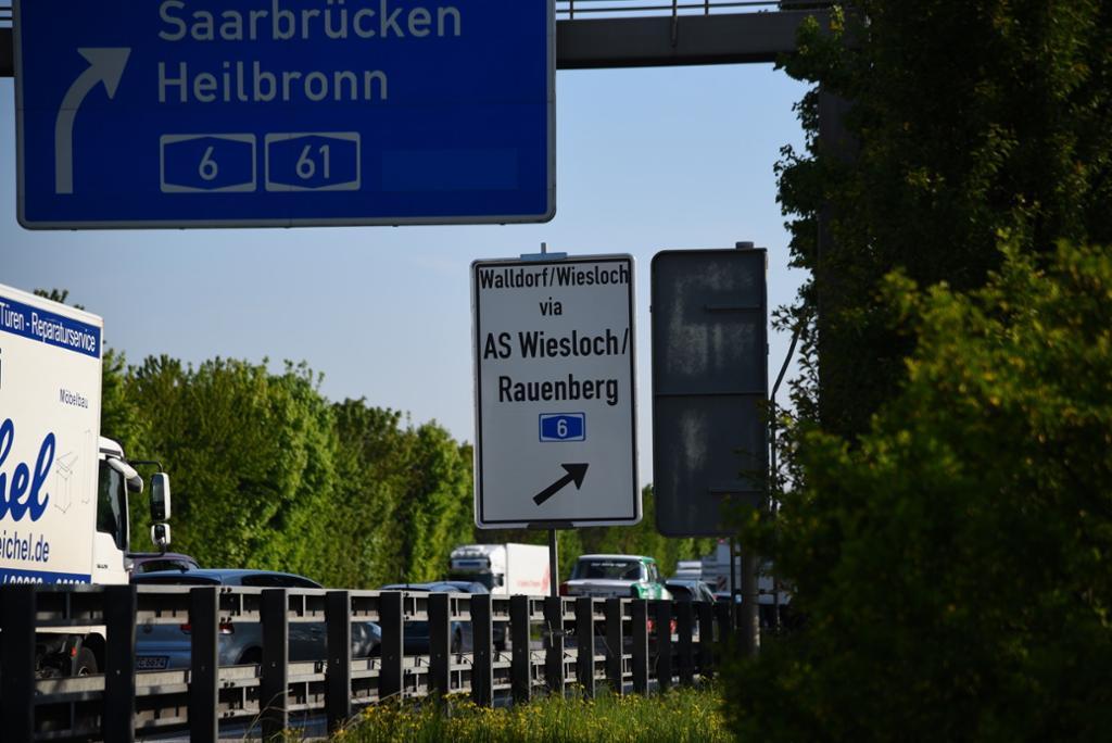Walldorfer Kreuz Sperrung