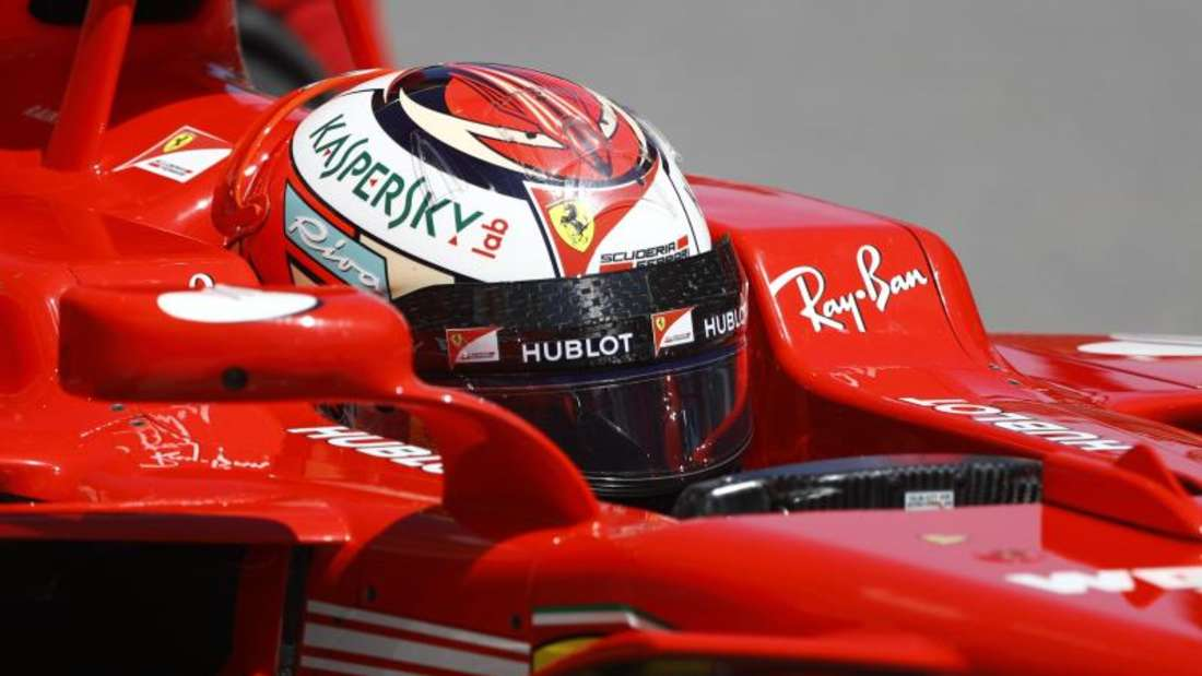 Ferrari-Pilot Sebastian Vettel dreht in Sotschi mächtig auf. Foto: Pavel Golovkin