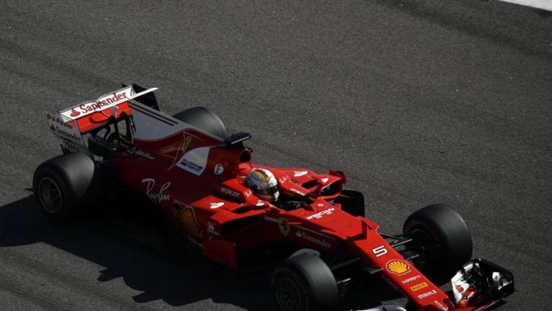 Ferrari-Pilot Vettel forderte seine Reifen. Foto: Sergei Grits