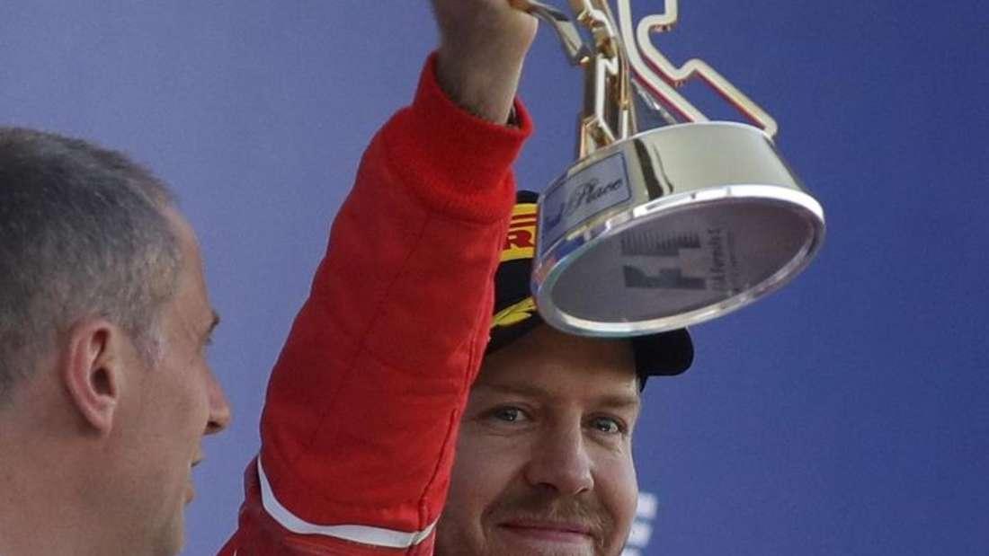Sebastian Vettel wurde Zweiter in Sotschi. Foto: Sergei Grits
