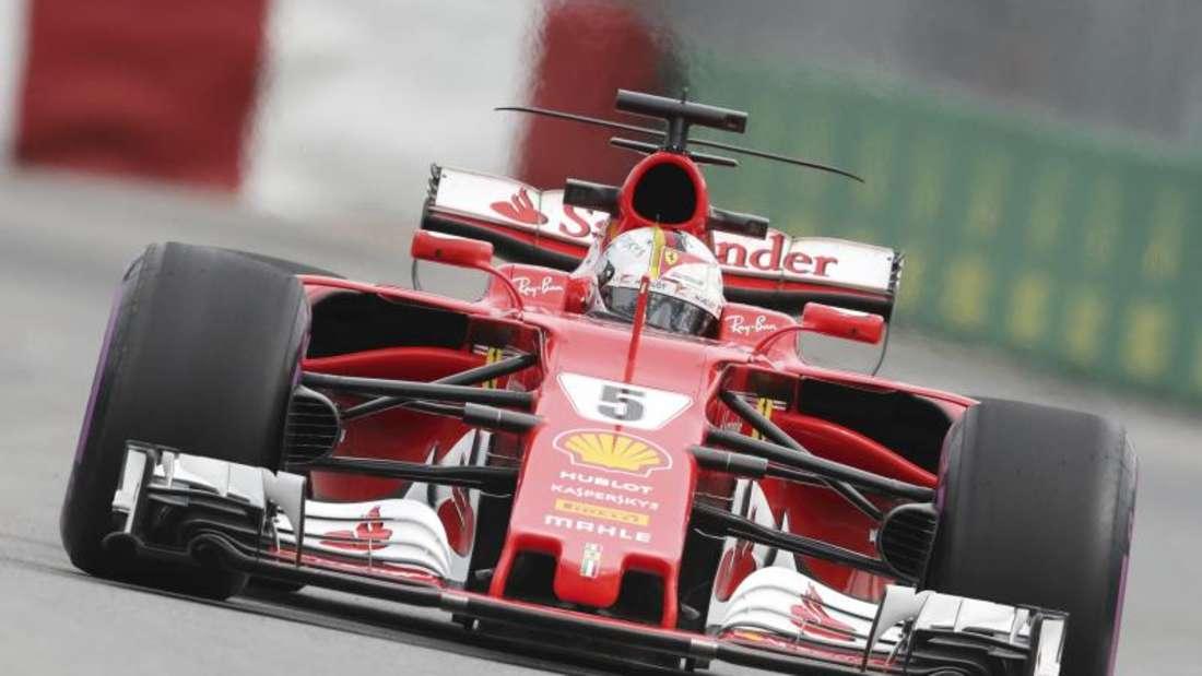 Sebastian Vettel hat gute Aussichten mit seinem Ferrari die Pole Position in Montreal zu holen. Foto: Tim Boland/The Canadian Press/AP