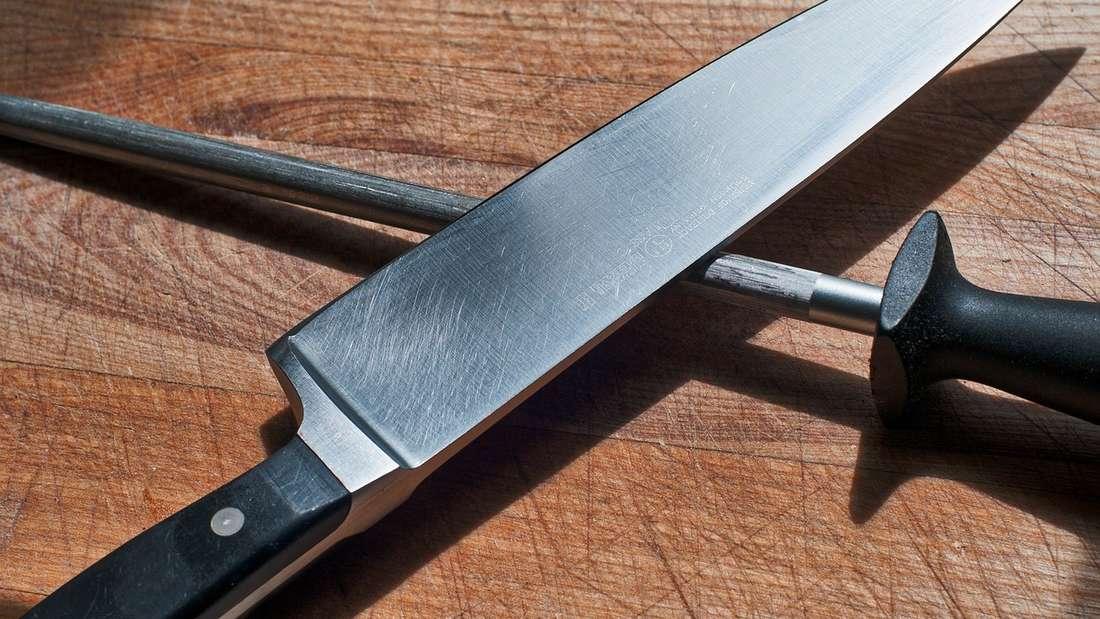 Um ein Messer zu schärfen, brauchen Sie einen Schärfstab.